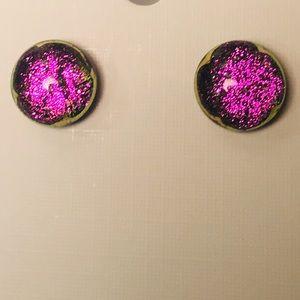 Jewelry - Fused Glass Post Earrings